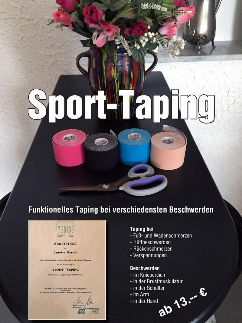 Funktionelles Sport-Taping bei verschiedensten Beschwerden